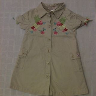 Janie And Jack Tropical Safari Hummingbird Shirt Dress 18 24 Lovely