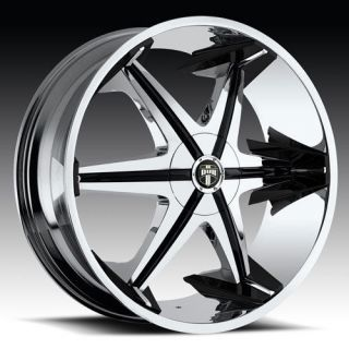 28 DUB Big Homie With Shooz Wheel & TIRE Package 28x10 Chrome Rims