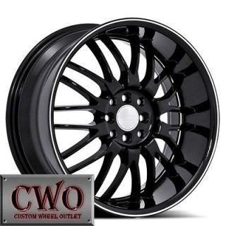 Black Ruff R951 Wheels Rims 4x100/4x114.3 4 Lug Civic Integra Accord