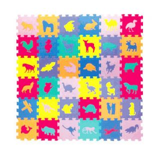 Foam Jigsaw Puzzle Childrens Animal Learning Activity Eva Play Mat