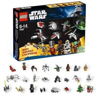 LEGO STAR WARS 2011 ADVENT CALENDAR SET 7958 11 MINIFIGS YODA SANTA