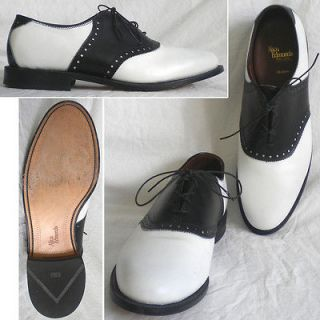 Allen Edmonds Shelton Mens Dress Shoes Oxfords Black White 12 Mint