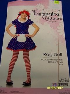 Rag Doll Raggedy Ann Blue Polka Dot Dress Up Leg Avenue Halloween