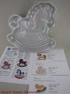 Wilton ROCKING HORSE PARTY CAKE PAN w Instructions Carousel Hobby Pony