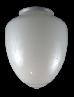 Vintage Art Deco Milk Glass Street Globe Light Shade