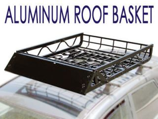 50 Black Aluminum Car SUV Roof Top Mount Multisport Rack Basket Cargo