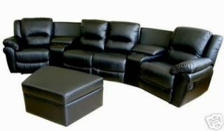 New Home Theater Seating Recliner Movie Chairs 4 Seats