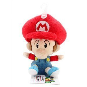 Official Sanei Baby Mario Soft Stuffed Plush Super Mario Plush