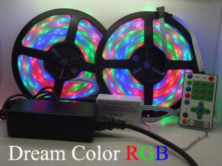 RGB LED chase magic dream color change strip bar stage light + power