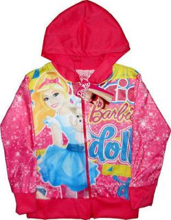 BARBIE DOLL Girls Jacket Coat Childrens Clothes Kids Clothing Toy Toys