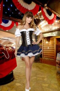 SEXY BAVARIAN BAR BEER GARDEN MAID WENCH FANCY DRESS COSTUME Free Post