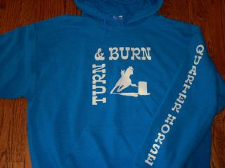 BARREL RACINGTURN & BURN HOODIE/QUARTER HORSE  LARGE