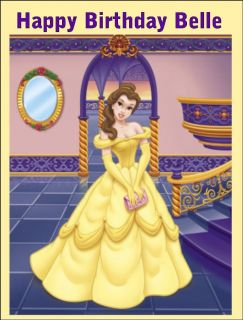 Princess Belle Beauty and the Beast Edible Print Icing Sheet Cake