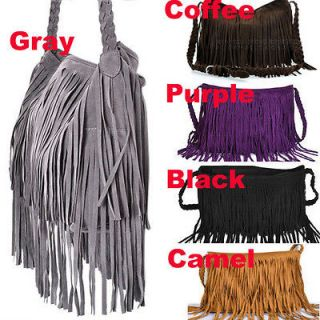 GA#6 Tassel Celebrity Fringe Shoulder Messenger Cross Body Bag Handbag