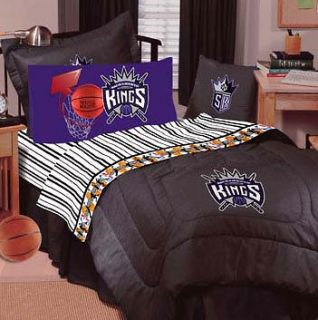 SACRAMENTO KINGS Full Sheets Set NBA Basketball BEDDING