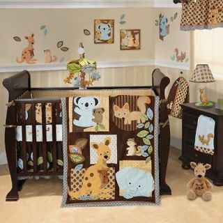 Australian Safari Patchwork Animal Party Neutral Baby Crib Bedding Set
