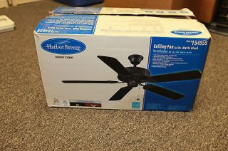 NIB Harbor Breeze Ceiling Fan 52in Matte Black (Item #154858)