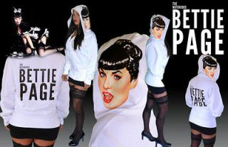 Bettie Page Clothing Licensed One of a Kind Hoodie. The Notorious
