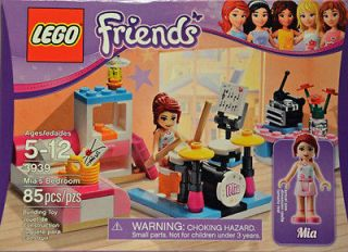 LEGO FRIENDS Mias Bedroom   Mini Figure Mia, Drum Set, Bed, Diary