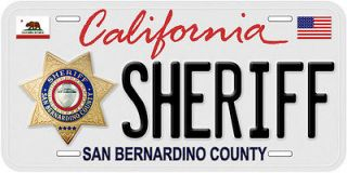 San Bernardino CA Sheriff Novelty Car License Plate