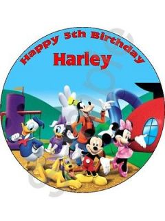 Mickey Mouse Clubhouse 7.5 birthday cake topper on icing