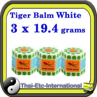 TIGER BALM White Herbal Pain Relief Ointment Balm Jar Natural headache