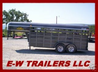 NEW 2012 DELTA STOCK AND CATTLE TRAILER  16  GOOSENECK