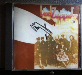 JIMMY PAGE AUTOGRAPHED LED ZEPPELIN 2 CD COVER ONLY VERY RARE BONHAM