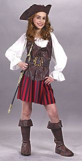 High Seas Buccaneer Pirate Captain Hat Dress Child Girls Costume