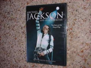 MICHAEL JACKSON   LIFE OF A SUPERSTAR DVD (BIOGRAPHY) *NEW, SEALED*