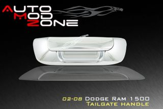 02 08 Dodge Ram 1500 Chrome Tailgate Handle Cover Trim (Fits 2005