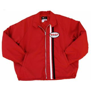 Mooneyes Gas Station Jacket in Red (XL) Hot Rod Kustom Chevy VW Moon