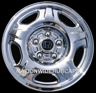 CRV 15 CHROME Wheel Skins Hub Caps Covers fits 5 Spoke Steel Rims NEW
