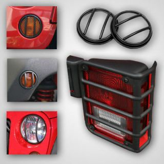 Light Guard Kit. 2007 2013 Jeep Wrangler JK (Inc bumper light guards