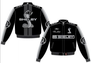 Adult Mens Size 2X 3X Carroll Shelby Cobra Black Gray 2011 Jacket Coat