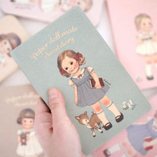 Hyundai Hmall Korea Paper Doll Mate Sweet Any Year Diary Journal
