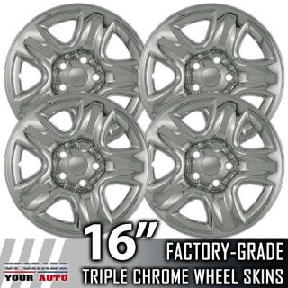 01 05 TOYOTA RAV4 16 Chrome Wheel Skin Covers (Fits Suzuki Grand