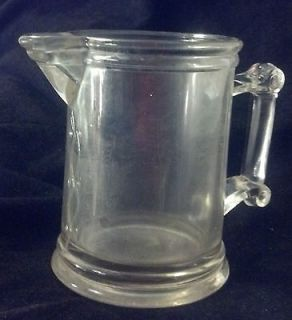 Unique DEPRESSION Pressed GLASS MILK PITCHER Creamer VERY NICE