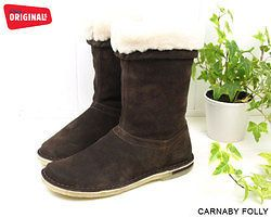 NEW CLARKS ORIGINALS CARNABY FOLLY FUR LINED BOOTS SIZE 4 & 4.5 & 5