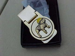 MACK TRUCK BULLDOG CHROME GOLD CLASSY MONEY CLIP GIFT BOX USA