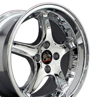 17 8/9 Chrome Cobra Wheels Rims Fit Mustang® 79 93