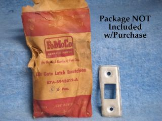 1957 Ford NOS Station Wagon Lift Gate Latch Escutcheon RH