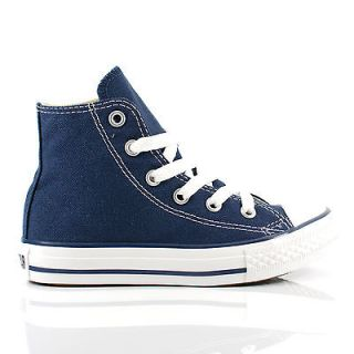 Kids/Boys/Girls Converse All Star Hi Chuck Taylor Navy Canvas Trainers