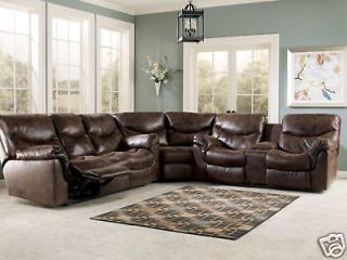 CONTEMPORARY FAUX LEATHER RECLINER SOFA COUCH SECTIONAL SET LIVING