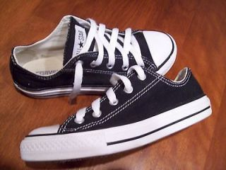 Girls CONVERSE ALL STAR Shoes Black and White Size 1Y