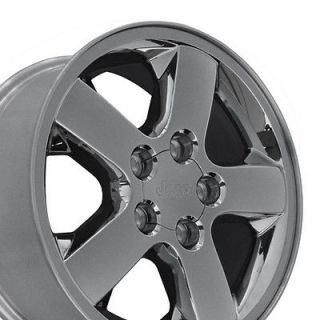 17 Jeep Grand Cherokee Chrome Clad Wheels Set of 4 OEM 9042 Rims