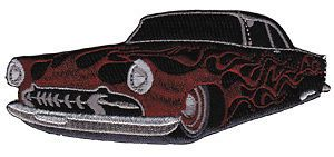 Hot Rod Classic Car Logo Embroidered Iron On Patch p3592