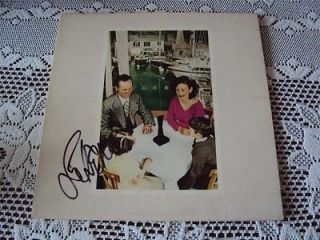 Led Zeppelin John Paul Jones Signed Autographed LP Record Presence