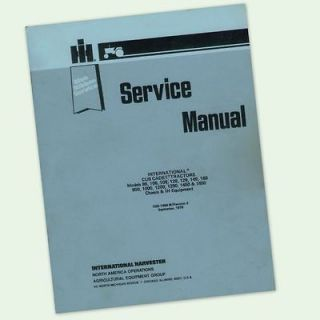 CUB CADET TRACTOR 86 108 109 128 FULL REPAIR SERVICE SHOP MANUAL LAWN