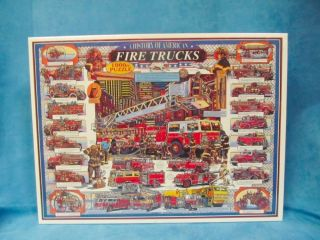 White Mountain Puzzles, FIRE TRUCKS, HISTORY OF AMERICA FIREMAN